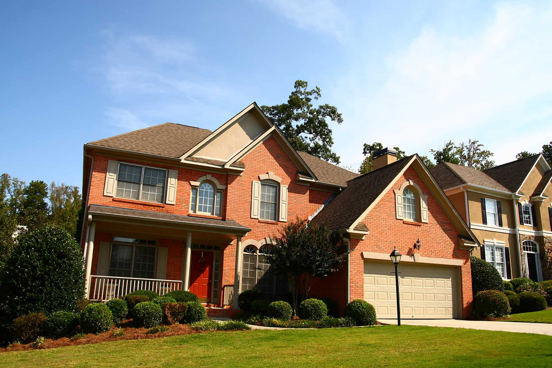 red brick and siding color combinations